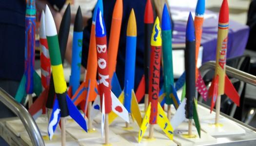 Area Students Test Firing Rockets