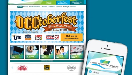 The Owensboro Convention Center has a new website with a QuickQuote feature and a new app